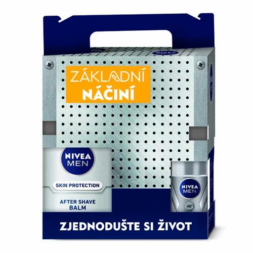 Nivea Man Silver Protect gél na holenie 200 ml + balzam po holení 100 ml + kuličkový antiperspirant 50 ml + Man krém 150 ml darčeková sada