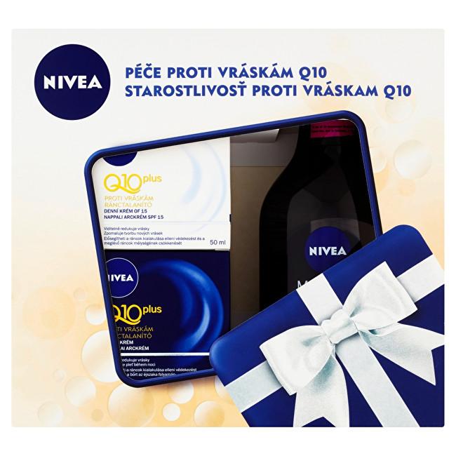 Nivea Q10 Plus denní pleťová péče 50 ml + noční pleťová péče 50 ml + micelární voda Micellair 400 ml pro ženy dárková sada
