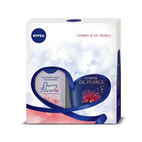 Nivea Body Cherry telové mlieko 200 ml + sprchový gél 250 ml darčeková sada