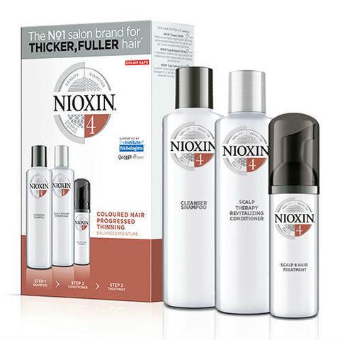 Nioxin Dárková sada pro barvené vypadávající vlasy System 4