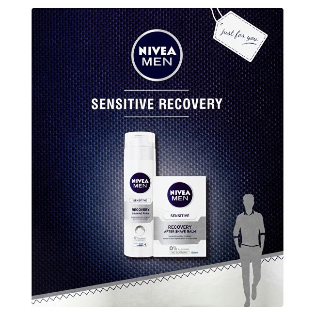 Nivea Men Sensitive Recovery pro muže balzám po holení 100 ml + pěna na holení 200 ml dárková sada