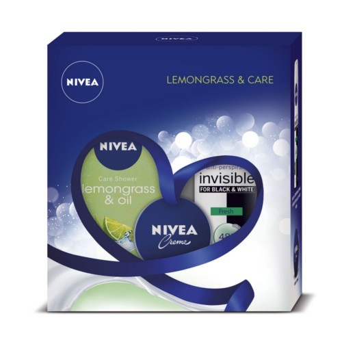 Nivea Q10 Plus Energy sprchový gél Lemongrass & Oil 250 ml + Spevňujúce telové mlieko pre normálnu pokožku Q10 Plus Firming 250 ml darčeková sada