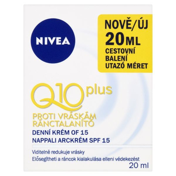 Nivea Denní krém proti vráskám Q 10 Plus SPF 15 mini 20 ml