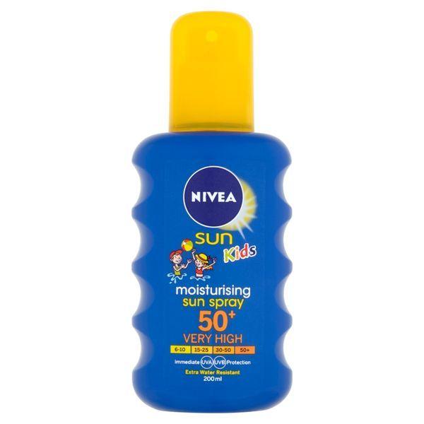 Nivea Detský farebný sprej na opaľovanie OF 50+ (Moisturising Sun spray) 200 ml