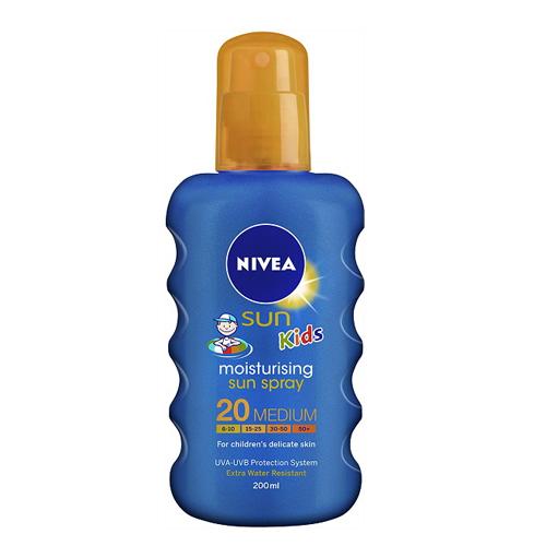 Nivea Detský farebný sprej na opaľovanie SPF 20 Sun Kids (Caring Sun Spray) 200 ml