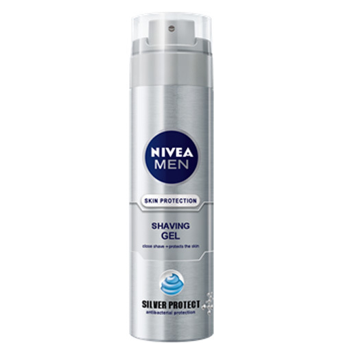 Nivea Gel na holení Silver Protect 200 ml