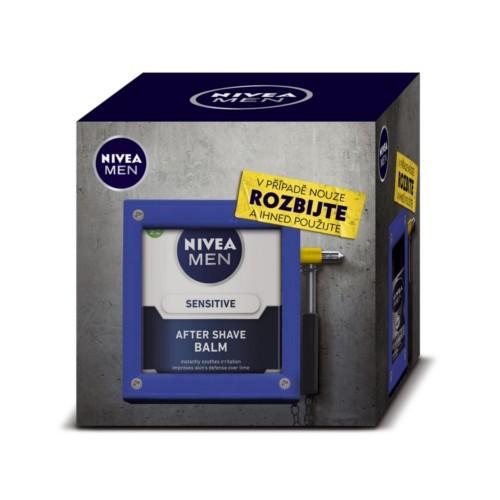 Nivea Man Toolbox Emergency balzam po holení 100 ml + krém 150 ml + antiperspirant roll-on 50 ml + sprchový gél 250 ml darčeková sada