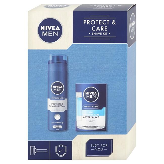 Nivea pro muže Protect & Care 2v1 voda po holení pro muže 100 ml + pěna na holení 200 ml dárková sada