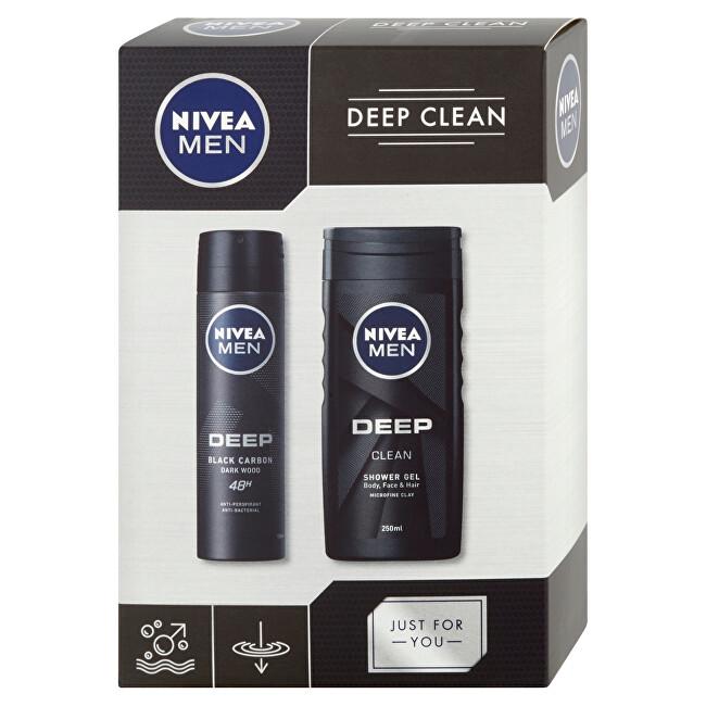 Nivea Kosmetická sada pro muže Men Deep Clean - SLEVA - poškozená krabička