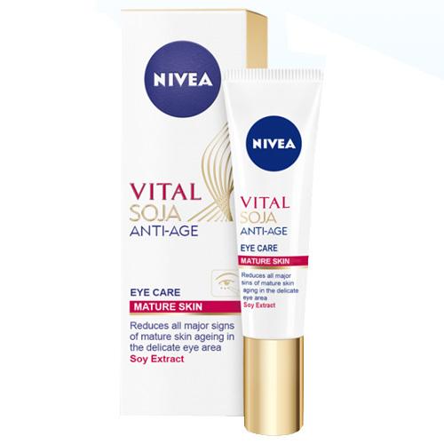 Nivea Krém proti vráskam pre okolie očí a pier Vital Soja (Eye &Lip Care ) 15 ml