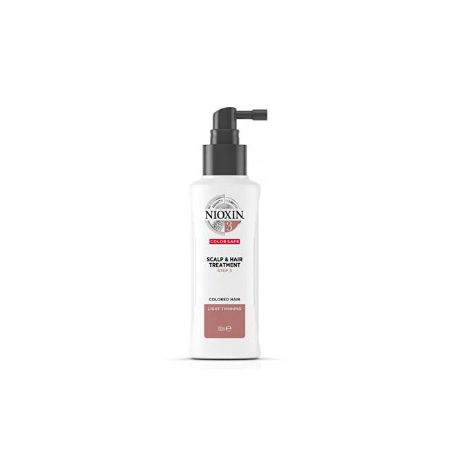 Nioxin Kúra na mírně řídnoucí jemné chemicky ošetřené vlasy System 3 (Scalp Treatment Color Save) 100 ml