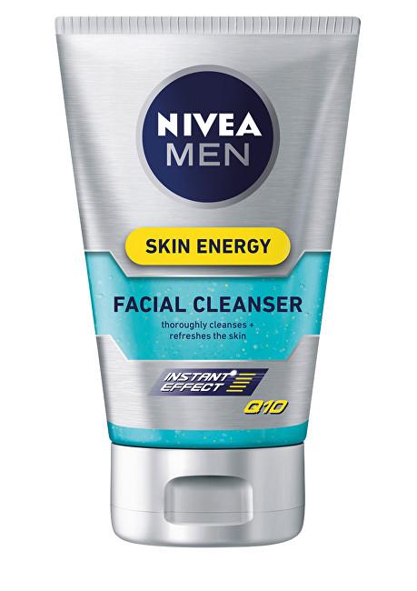 Nivea Gel facial de curățare Skin Energy Q10 100 ml pentru bărbați