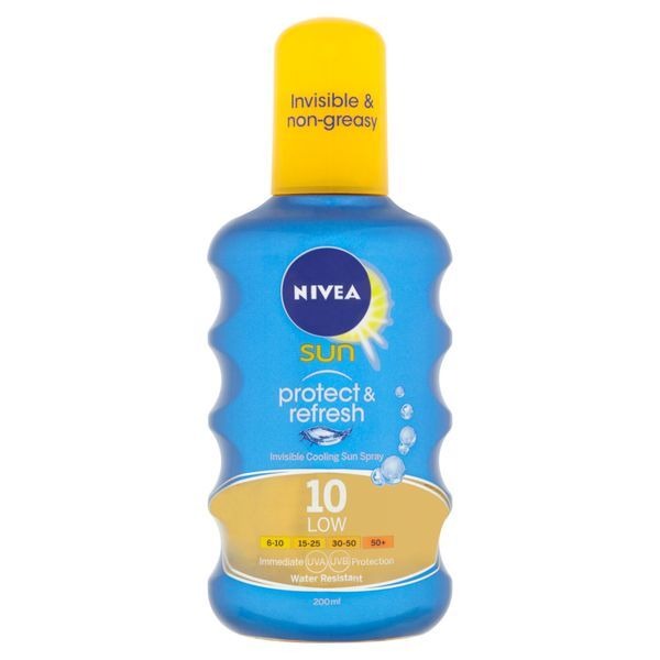 Nivea Neviditelný sprej na opalování SPF 10 Sun (Invisible Protection Transparent spray) 200 ml