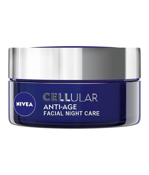 Fotografie Nivea - CELLular Anti-Age Night Cream 50ml Přípravek proti vráskám W Redukce vrásek