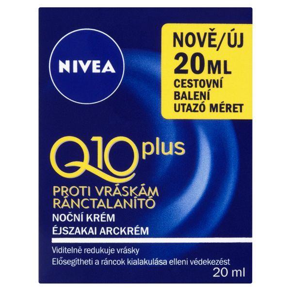 Nivea Nočný krém proti vráskam Q10 Plus mini 20 ml