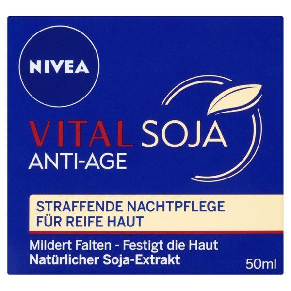 Nivea Nočný krém proti vráskam Vital Soja (Night Care ) 50 ml