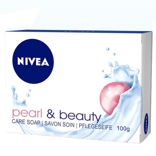 Nivea Pečující tuhé mýdlo Pearl & Beauty (Care Soap) 100 ml