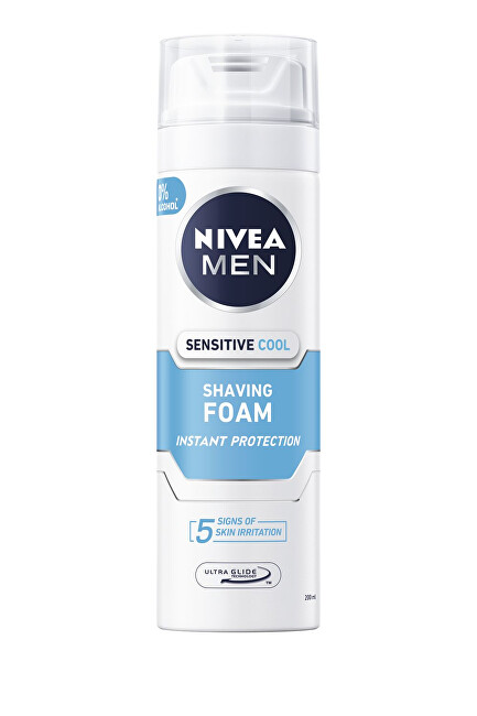 Nivea Pena na holenie Sensitive Cooling 200 ml