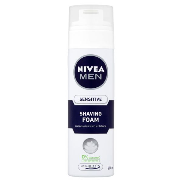 Nivea Pena na holenie Sensitive 200 ml
