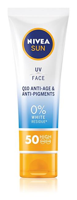 Nivea Protivráskový krém na opalování SPF 50 (UV Face Q10 Anti-Age & Anti-Pigments) 50 ml