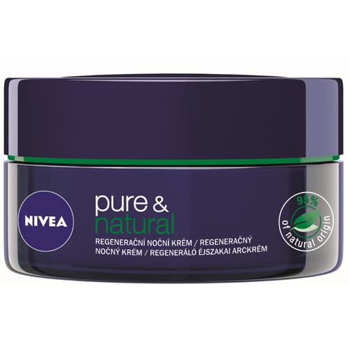 Nivea Regenerační noční krém pro všechny typy pleti Pure & Natural 50 ml