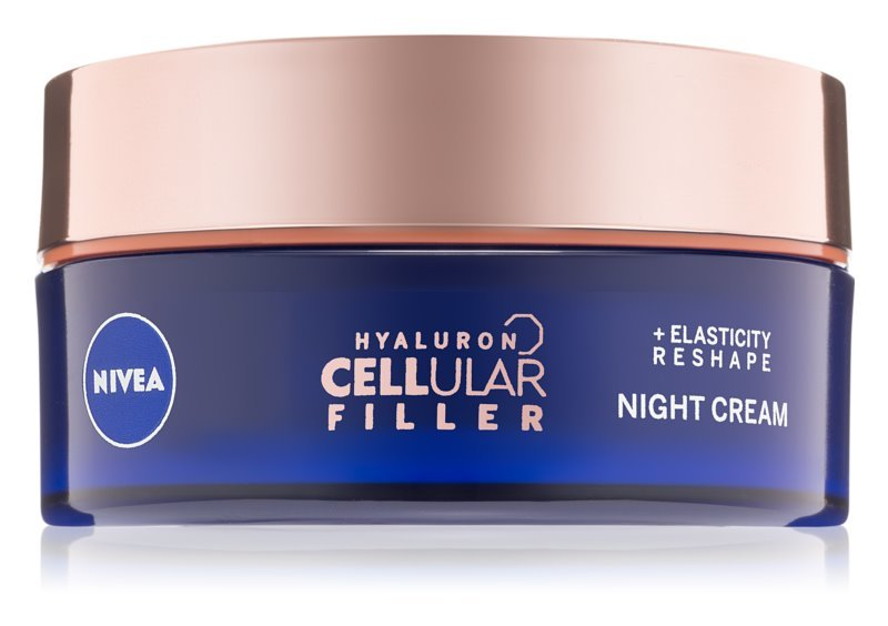 Nivea Remodelačný nočný krém Hyaluron Cellular Filler (Elasticity Night Cream) 50 ml