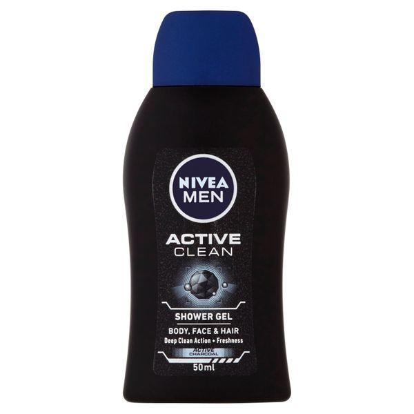 Nivea Gel de duș pentru bărbați Active C lean mini (Shower Gel) 50 ml