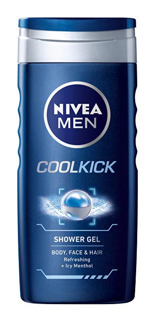 Fotografie Nivea Men Cool Kick sprchový gel na tělo, tvář a vlasy 250 ml