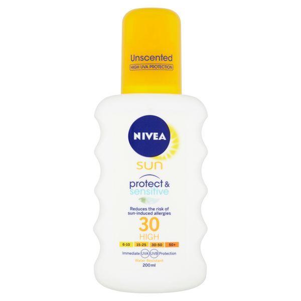 Nivea Sprej na opalování SPF 30 Sun (Pure & Sensitive Sun Spray) 200 ml
