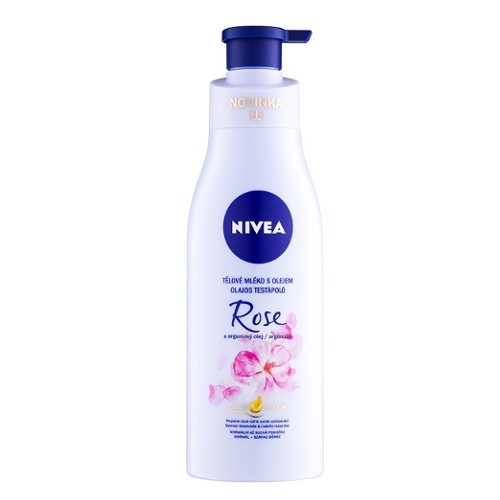 Nivea Loțiune de corp cu ulei de trandafir și argan (Oil In Lotion Rose & Argan Oil) 200 ml