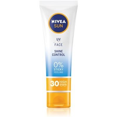Nivea Zmatňující pleťový krém na opalování SPF 30 (UV Face Shine Control Cream) 50 ml