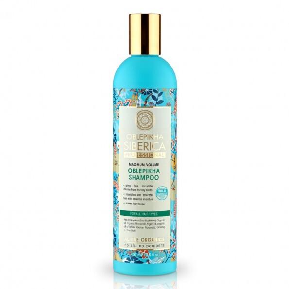 Natura Siberica Rakytníkový šampon pro maximální objem vlasů (Shampoo) 400 ml