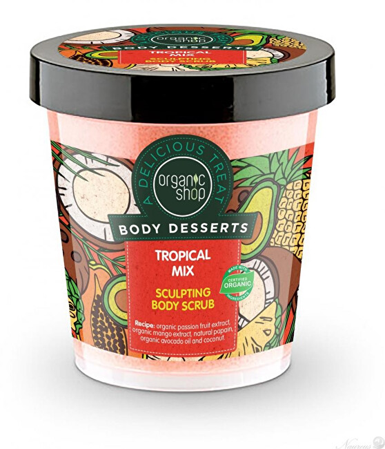 Organic Shop Tělo vý peeling Body Desserts Tropický mix (Sculpting Body Scrub) 450 ml