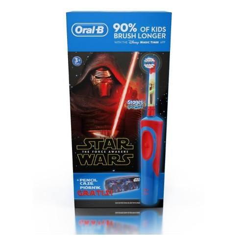 Oral B Dětský elektrický kartáček Vitality Star Wars + Penál