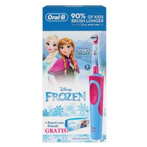 Oral B Dětský zubní kartáček Vitality Frozen + Penál - SLEVA - roztržený obal