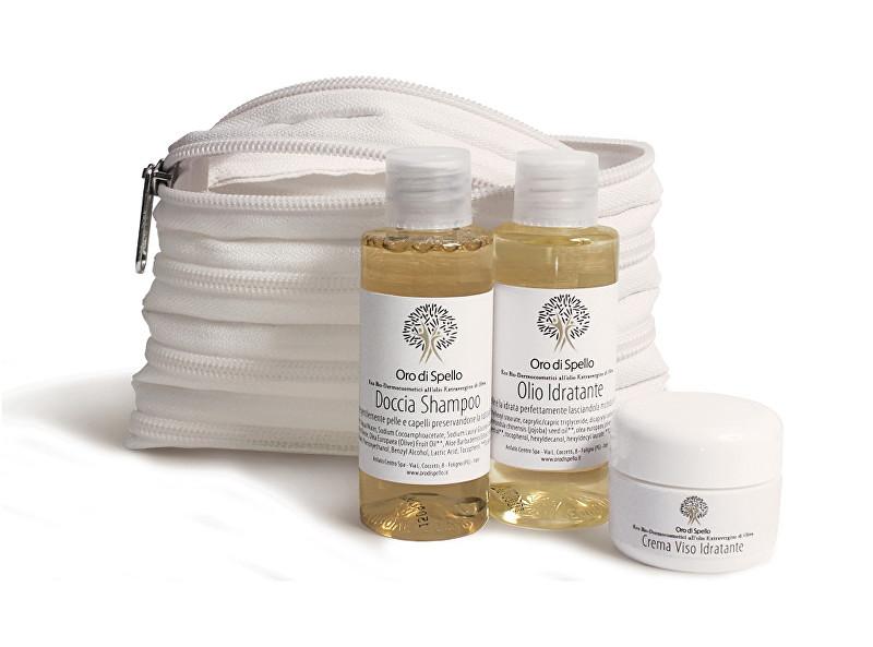 Oro di Spello Cestovní sada BIO produktů z extra panenského olivového oleje v miniaturním balení