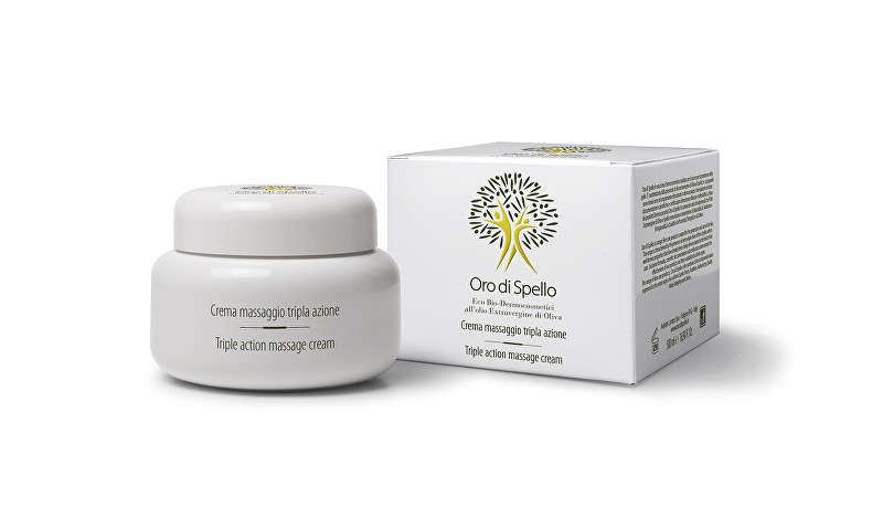 Oro di Spello Masážní krém z extra panenského olivového oleje s trojím účinkem proti celulitidě a striím (Triple Action Massage Cream) 500 ml