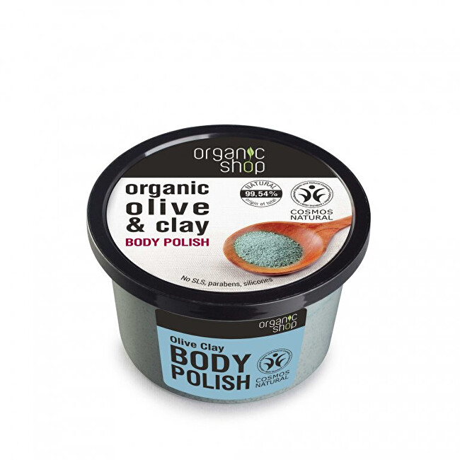 Organic Shop Tělo vý peeling Olivy a íl ( Body Polish) 250 ml