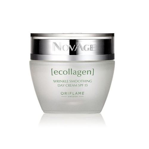 Oriflame Denní vyhlazující krém proti vráskám NovAge Ecollagen SPF 15 (Wrinkle Smoothing Day Cream SPF 15) 50 ml