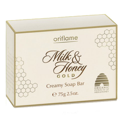 Oriflame Krémové mýdlo Milk & Honey Gold (Softening Creamy Soap Bar) 75 g