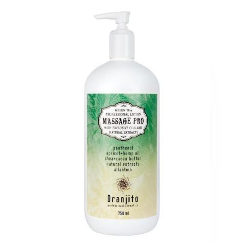 Oranjito Masážní mléko se zeleným čajem (Massage Pro) 750 ml