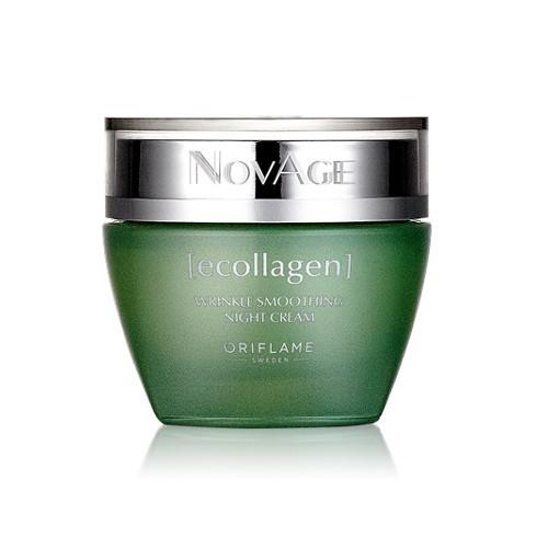 Oriflame Noční vyhlazující krém proti vráskám NovAge Ecollagen (Wrinkle Smoothing Night Cream) 50 ml