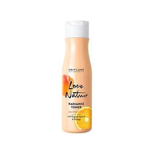 Oriflame Rozjasňujúce pleťová voda s bio marhuľami a pomarančom Love Nature (Radiance Toner) 150 ml