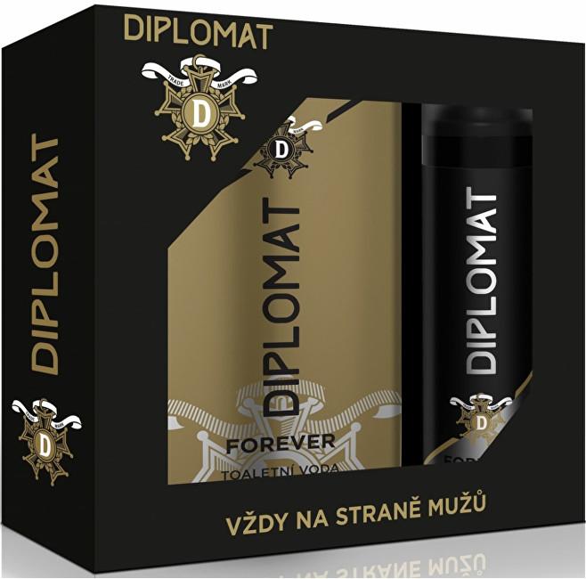 Ostatní Astrid Diplomat dárková sada Forever Toaletní voda 100 ml + Deo sprej 150 ml - SLEVA - poškrábaná krabice
