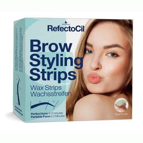 Refectocil Depilační proužky na obočí (Brow Styling Strips) 30+30 párů