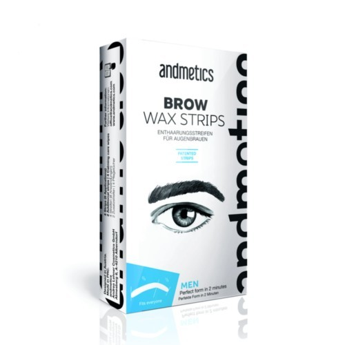Andmetics Depilační voskové pásky na obočí pro muže (Brow Wax Strips For Men)