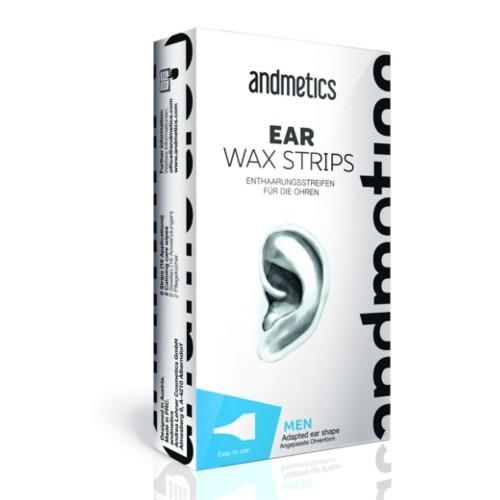 Andmetics Depilační voskové pásky na uši pro muže (Ear Wax Strips For Men)