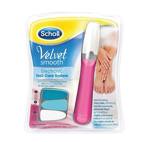 Scholl Elektrický pilník na nechty ružový Velvet Smooth