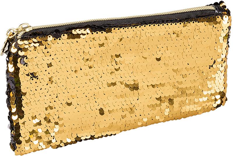 Ostatní Kozmetická taštička SEQUEEN zlatá 8c2766b6d11