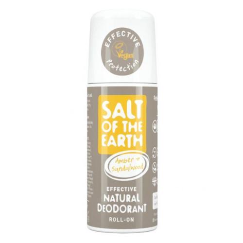 Salt Of The Earth Přírodní kuličkový deodorant s ambrou a santalem (Natural Roll On Deodorant) 75 ml
